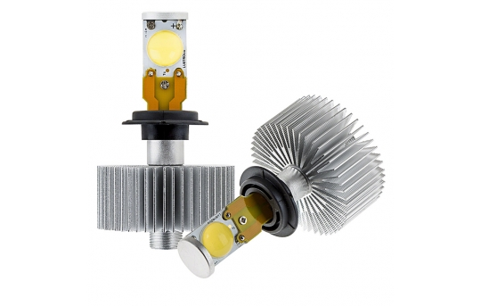LED Headlight Kit - H7 LED Headlight Bulbs Conversion Kit with Radial Heat Sink - H7-HLV2