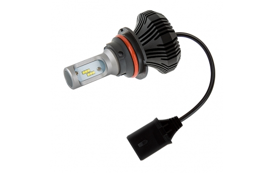 Motorcycle 9004 LED Fanless Headlight Conversion Kit with Internal Driver - 2,000 Lumens - 9004-HLV4-M