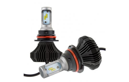 9007 LED Fanless Headlight/Fog Light Conversion Kit with Internal Drivers - 4,000 Lumens/Set - 9007-HLV4
