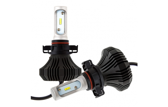 H16 LED Fanless Headlight/Fog Light Conversion Kit with Compact Heat Sink - 4,000 Lumens/Set - H16-HLV4
