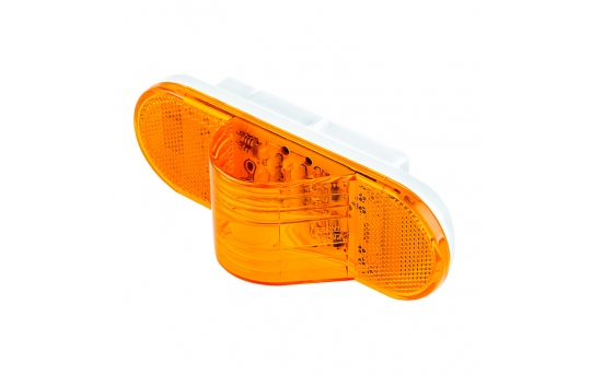 """Oval LED Truck and Trailer Light - 6"""" LED Mid-Ship Turn Signal and Side Marker Light - 3-Pin Connector - Flush Mount - 9 LEDs - MT-A9"""
