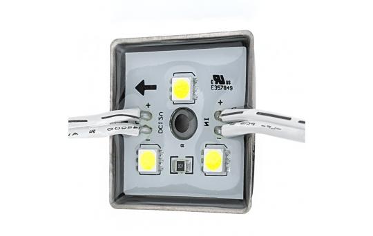 Single Color LED Module - Square Sign Module w/ 3 SMD LEDs - 59 Lumens/Module - LBM-x3SMD