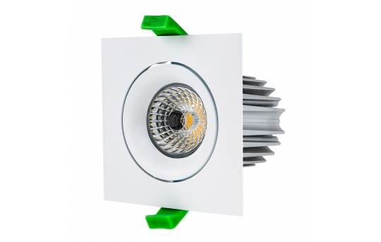 LED Recessed Light Engine w/ Square 90mm Aimable Trim - 75 Watt Equivalent - RLFM-x12W-x-90S