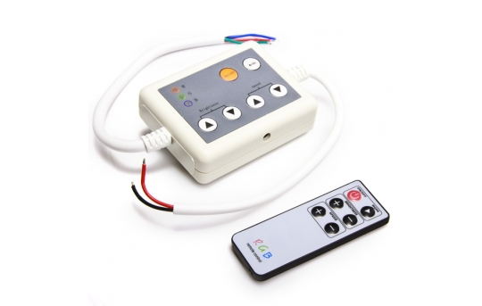 RGB LED Controller with Wireless IR Remote - Dynamic Color-Changing Modes - 4 Amps/Channel - LDIR-RGB4