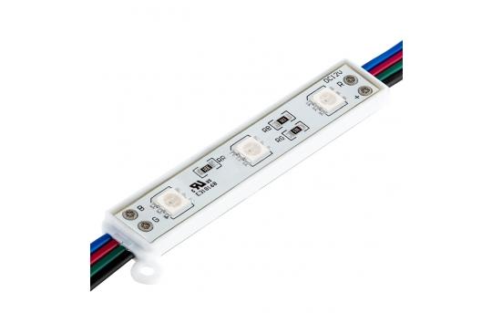 RGB LED Modules - Linear Sign Modules w/ 3 SMD LEDs - 22 Lumens - LSM-RGB3X3