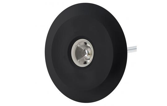 LED Step Lights - Black 70mm Metal Trimmed Mini Round Deck / Step Accent Light - 1 Watt - MRLF-1xW-BTB