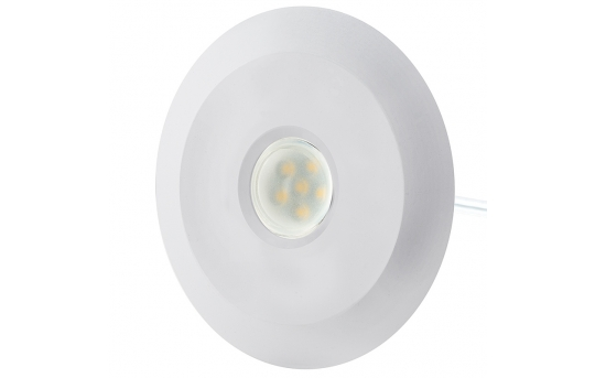 LED Step Lights - White 70mm Metal Trimmed Mini Round Deck / Step Accent Light - 0.5 Watt - MRLF-6xW-BTW