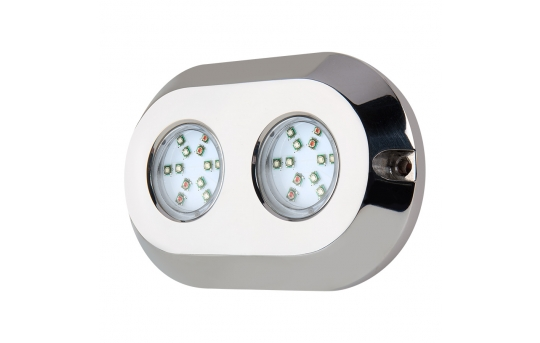 RGB LED Underwater Boat Lights and Dock Lights - Dual Array- 120W - UBL-RGB120