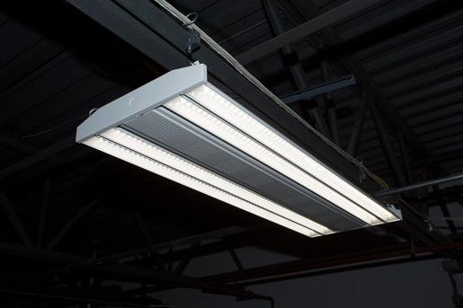 200W Linear LED High Bay Light Fixture - Troffer-Style LED Light w/ Suspension Cables - 23,700 Lumens - 5200K - HBLT-xK200W-120