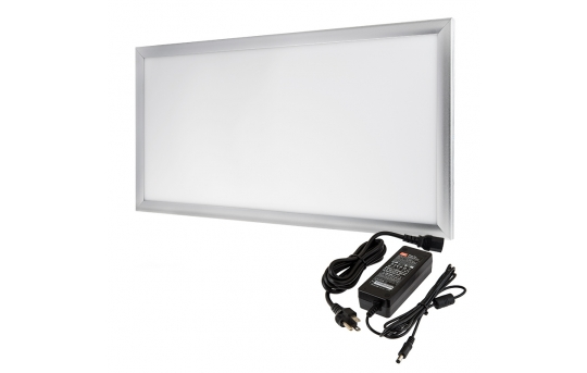 12V LED Panel Light High Voltage Kit - 1x2 - 3,000 Lumens - 40W Even-Glow® Light Fixture - Surface Mount - LP-NW6030-40-12V-HVK