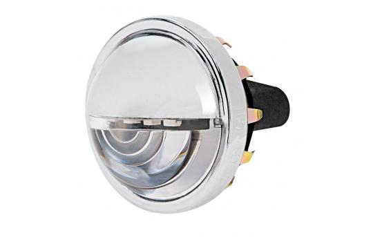 "1-1/2"" Round LED License Plate Light w/ 4 SMD LEDs w/ Chrome Housing - LPC-R4W"