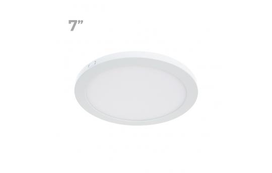 """7"""" Slim LED Downlight - Flush Mount Ceiling Light - 75 Watt Equivalent - Dimmable - 1,000 Lumens - LPR-xK7-12"""