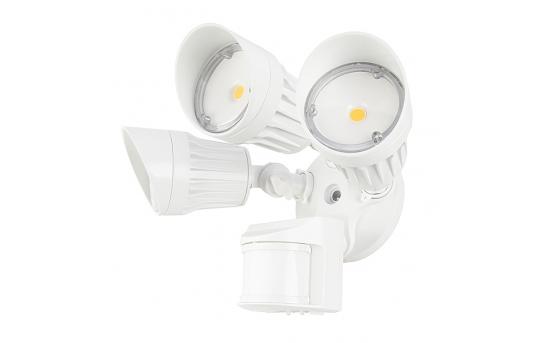 30W Integrated LED Motion Sensor Light - 2,450 Lumens - Adjustable 3 Head Security Light - MASL-x30-Tx