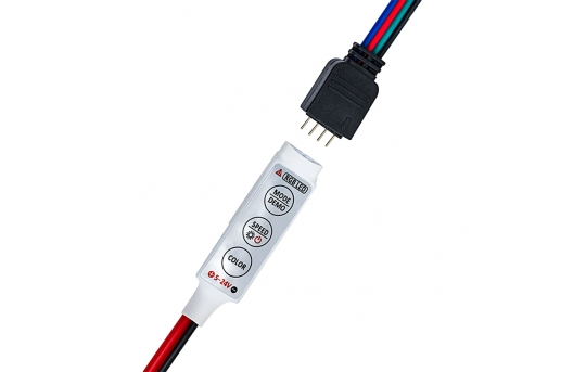 Mini RGB LED Controller - Dynamic Color-Changing Modes - 4 Amps/Channel - MCB-RGB4