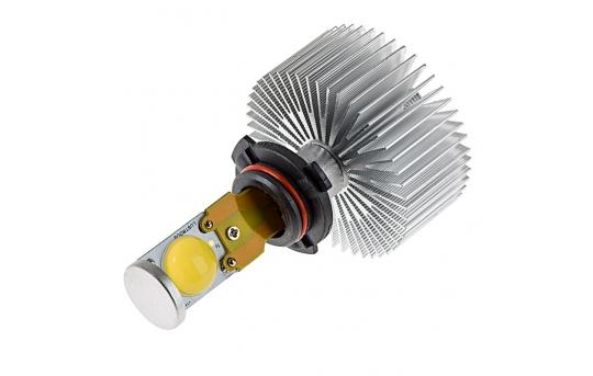 Motorcycle LED Headlight Conversion Kit - HB4 (9006) LED Headlight Bulb Conversion Kit with Radial Heat Sink - 9006-HLV2-M