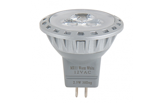 MR11 LED Boat and RV Light Bulb - 25 Watt Equivalent - Bi-Pin Bulb - 240 Lumens - MR11-xW3SMD-V2-RVB