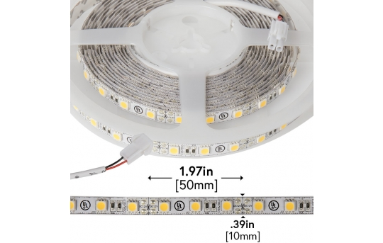 LED Strip Lights - 12V LED Tape Light with LC2 Connector - 375 Lumens/ft. - NFLS-X3-LC2
