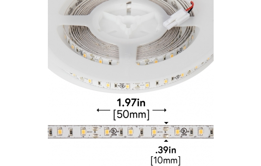 2835 White High-CRI LED Strip Light - LED Tape Light w/ Plug-and-Play LC2 Connectors - 12V - IP20 - 221 Lumens/ft - NFLS-xX2-LC2