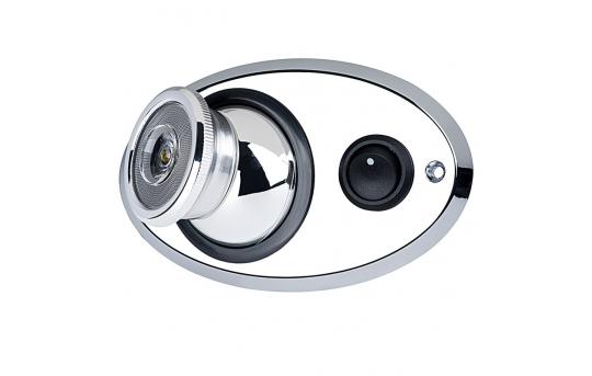 Adjustable LED Map/Dome Light w/ Switch - Truck, RV, Marine, Cabin LED Reading Light - Chrome Plated - 10 Watt Equivalent - 63 Lumens - MLAS-W1