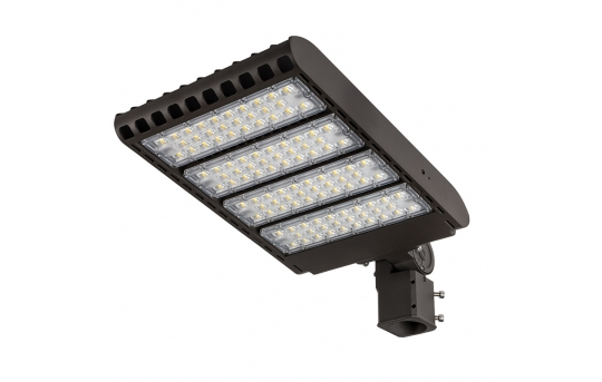 LED Parking Lot Light - 300W (1,000W HID Equivalent) 200-480V Dimmable LED Shoebox Area Light - 3000K/4000K/5000K - 36,000 Lumens - PLLD-x300-2048