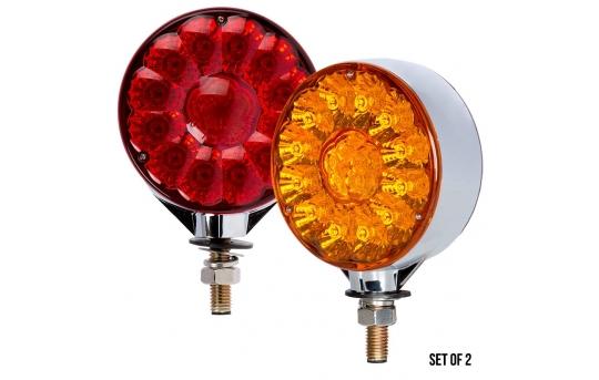 Round LED Pedestal Truck and Trailer Lights - 4