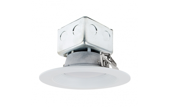 """6"""" Recessed LED Downlight w/ Built-In Junction Box and Baffle Trim - 60 Watt Equivalent - Dimmable - 650 Lumens - RLF6D-x10-JB"""
