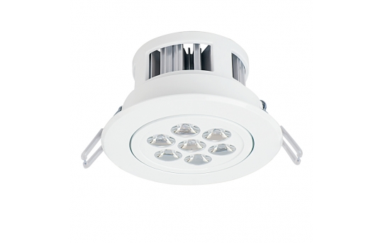 "LED Recessed Light Fixture - Aimable - 60 Watt Equivalent - 4.45"" - 680 Lumens - RLFA-x7W-P45"