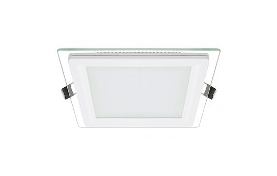 "6"" Square LED Recessed Light w/ Edge-Lit Glass - LED Downlight w/ Open Trim - 60 Watt Equivalent - 770 Lumens - RLFG-x12S"