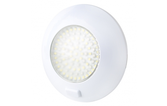 """5.5"""" Round LED Dome Light and Door Light Fixture w/ Red and White LEDs and Switch - 30 Watt Equivalent - 280 Lumens - TDLS-RW91"""