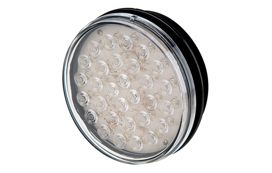 "Round LED BackUp Truck and Trailer Light - 4"" LED Reverse Light - 3-Pin Connector - Flush Mount -  - ST-W30"
