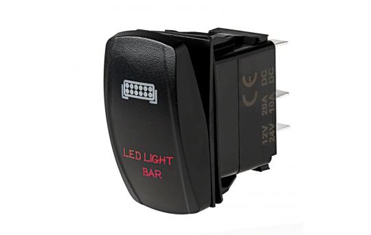 Weatherproof LED Rocker Switch - LED Light Bar Switch - RS-6