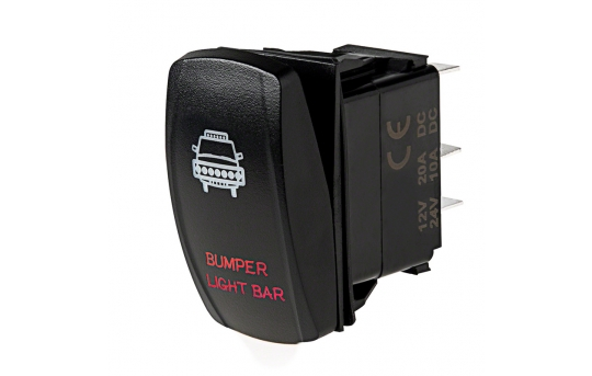 Weatherproof LED Rocker Switch - Bumper Light Bar Switch - RS-9