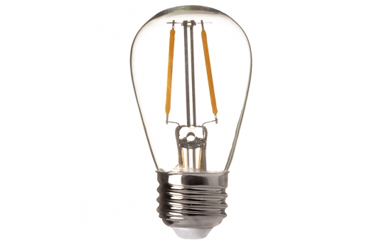 LED Vintage Light Bulb - S14 LED Sign Bulb w/ Filament LED - 15 Watt Equivalent - 120 Lumens - S14-x2DF