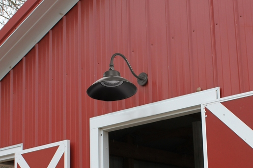 LED Gooseneck Barn Light - 42W - 4000K/3000K - 100W MH Equivalent - 3,700 Lumens - GBL-x42-BR