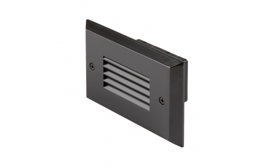 12V LED Step Lights - Louver Rectangular Deck / Step Accent Light with Faceplate - 55 Lumens - SLRE-x2x-12V-Hx