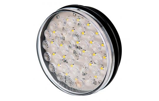"Warm White Round LED Truck and Trailer Backup Light - 4"" LED Reverse Light - 3-Pin Connector - Flush Mount - 30 LEDs - ST-WW30"