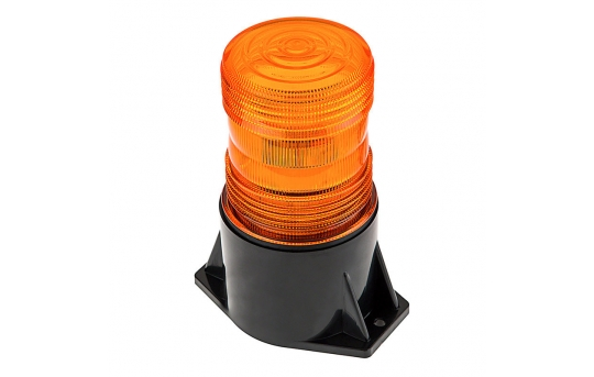 """5-1/2"""" Amber LED Strobe Light Beacon with 1 x 3W High Power LED - STB-A36"""