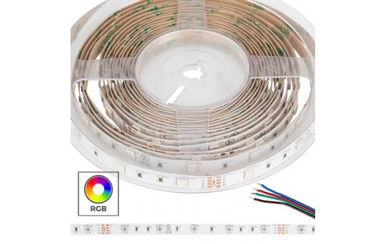 5050 RGB LED Strip Light/Tape Light - 24V - IP20 - 9 LED/ft. - STN-CRGB-A3A-10A5M-24V