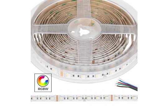 5050 RGBW LED Strip Light - Color-Changing LED Tape Light w/ White and Multicolor LEDs - 24V - IP20 - 122 lm/ft - 4-in-1 Chip - STN-DxK80-A6A-12B5M-24V