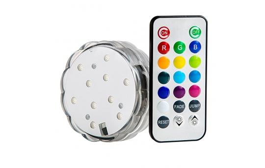Submersible RGB LED Accent Light w/ Remote - SAL-RGB10SMD-IR