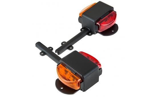 Dual Face LED Truck and Trailer Light - LED Side Clearance Lights - Pigtail Connector - Fender Mount - 6 LEDs - TFL-RA6K