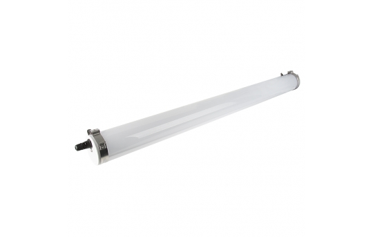 50W Waterproof Vapor Tight LED Light - Linkable Cylindrical Light - 4' Long - 6,400 Lumens - 5000K - TPCF-NW4-50