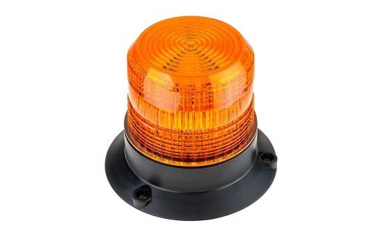 "4-3/4"" Amber LED Strobe Light Beacon with 24 LEDs - STB-A45-V2"
