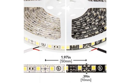 5050 Outdoor Single-Color LED Strip Light/Tape Light - 12V - Weatherproof IP66 - 226 Lumens/ft - WFLS-X3