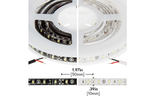 3528 Outdoor Single-Color LED Strip Light/Tape Light - 12V - Weatherproof IP66 - 76 lm/ft - WFLS-x