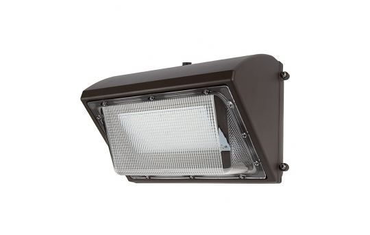80W LED Wall Pack with Photocell - 9,600 Lumens - 400W Metal Halide Equivalent - 5000K/4000K - WP-xK80-Sx