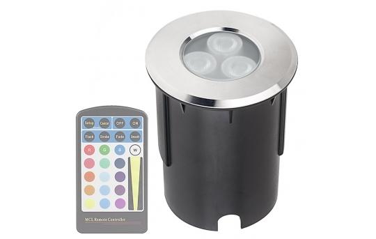 RGB LED In-Ground Well Light - 40 Watt Equivalent - 350 Lumens - WRLFA-RGB6W-60-MS3