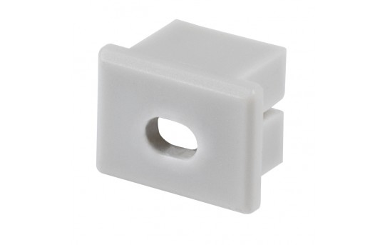 PDS-4-ALU-MW End Cap with Hole - 00027