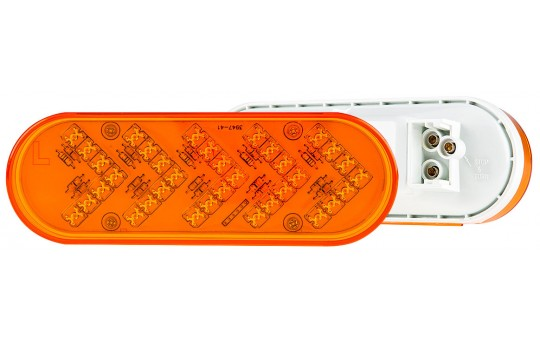 "Oval LED Truck and Trailer Turn Signal Lights - 6"" LED Sequential Arrow Turn Lights w/ 35 High Flux LEDs - 3-Pin Connector"