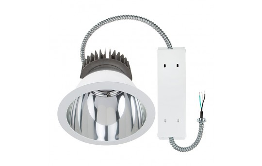 "Commercial LED Downlight Retrofit for 10"" Cans - Recessed Light w/ Reflector Trim - 290 Watt Equivalent - 2,900 Lumens - DCL10D-x40"